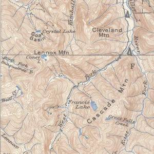 The map showing Ye olde trail