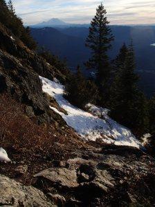 Mt.Rainier looms