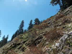 Off trail scrambling
